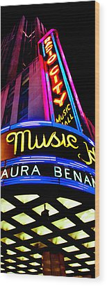 Radio City Music Hall Wood Print by Az Jackson