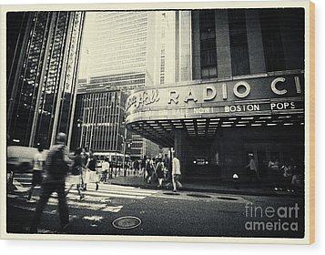 Radio City Music Hall Manhattan New York City Wood Print