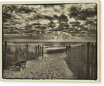 Radio Flyer At Dewey Beach Wood Print by Jack Paolini
