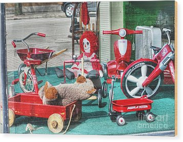 Radio Flyer Wood Print by David Bearden