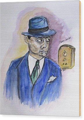 Radio's Johnny Dollar Wood Print by Clyde J Kell
