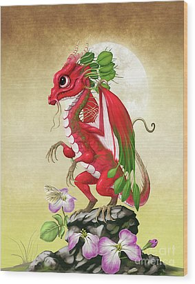 Radish Dragon Wood Print by Stanley Morrison