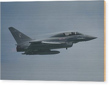 Wood Print featuring the photograph Raf Eurofighter Typhoon T1  by Tim Beach