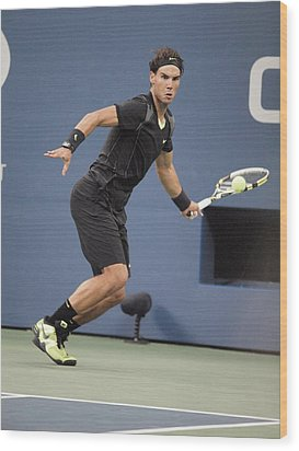 Rafael Nadal In Attendance For Us Open Wood Print by Everett