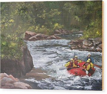 Rafting In Colorado Wood Print