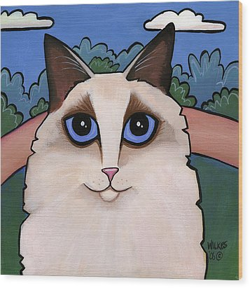 Ragdoll Cat Wood Print