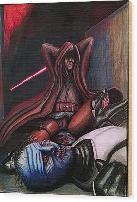 Rage Of The Jedi Wood Print by Chris Benice