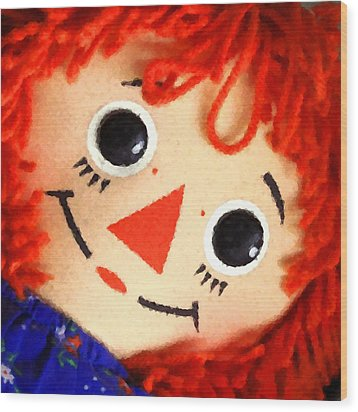 Raggedy Ann Wood Print by Timothy Bulone