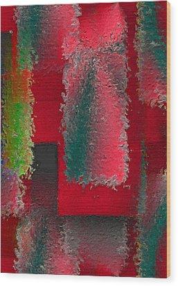 Raggedy Red Wood Print by John Krakora