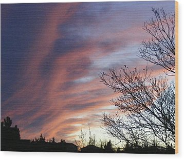Wood Print featuring the photograph Raging Sky by Barbara Griffin