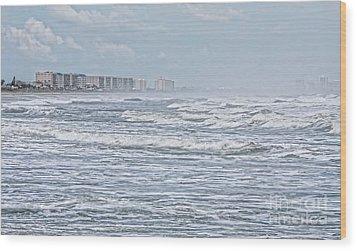 Raging Waters Wood Print by Deborah Benoit
