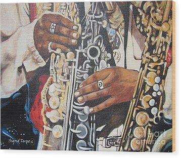 Rahsaan Roland Kirk- Jazz Wood Print