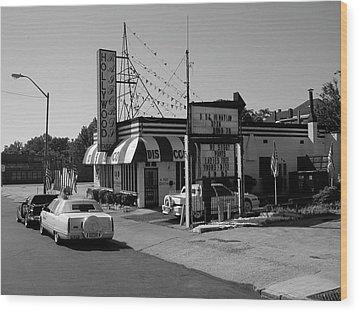 Wood Print featuring the photograph Raifords Disco Memphis B Bw by Mark Czerniec