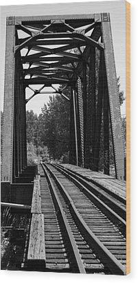 Railroad Bridge Wood Print by Sonja Anderson