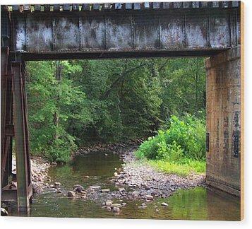 Railroad Landscape Wood Print