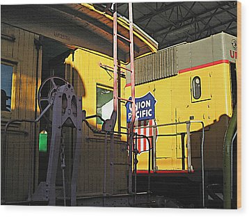 Railroad Museum 5 Wood Print by Steve Ohlsen