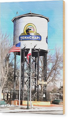 Wood Print featuring the photograph Railroad Park Tehachapi California by Floyd Snyder