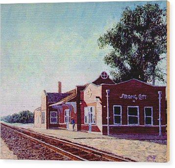 Railroad Station Wood Print