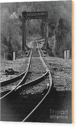 Wood Print featuring the photograph Rails by Douglas Stucky