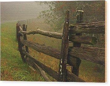 Rails Of Time Wood Print