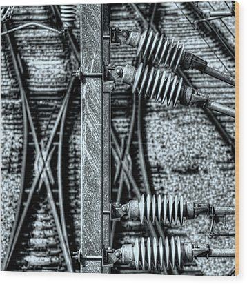 Railway Detail Wood Print by Wayne Sherriff