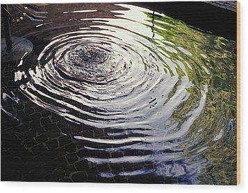 Rain Barrel Wood Print by Carl Purcell