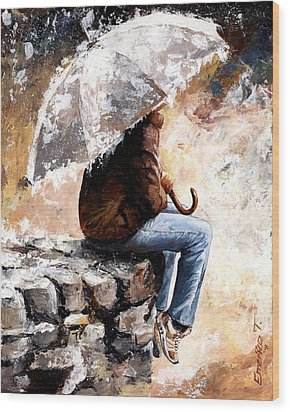 Rain Day Wood Print by Emerico Imre Toth