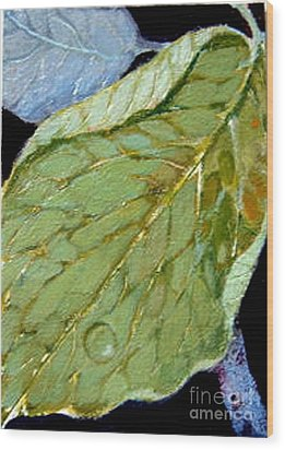 Wood Print featuring the painting Rain Drop  by Diane Ursin