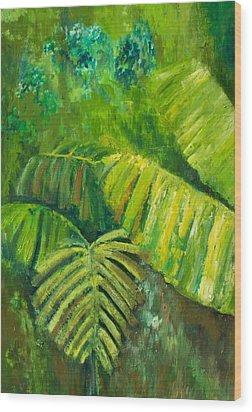Rain Forest Wood Print by Carol P Kingsley