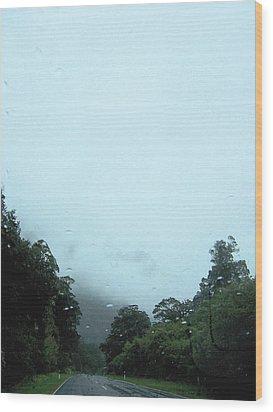 Rain Forest Rain Wood Print