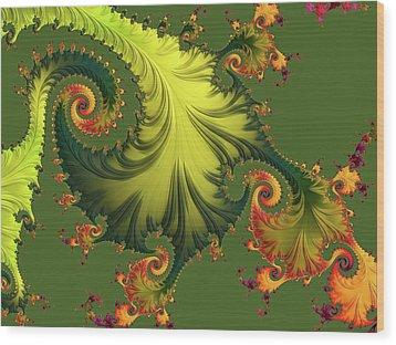 Rain Forest Wood Print by Susan Maxwell Schmidt