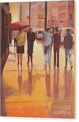 Rain In Manhattan Number Eighteen Wood Print