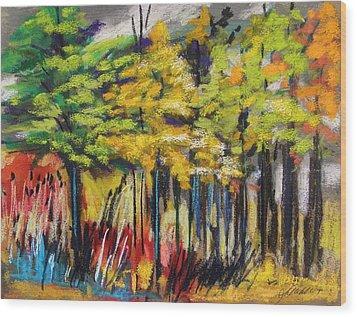 Rain In The Trees Wood Print by John Williams