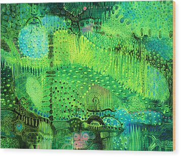 Rain Land I  Wood Print by Lolita Bronzini
