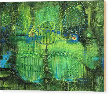 Rain Land II Wood Print by Lolita Bronzini