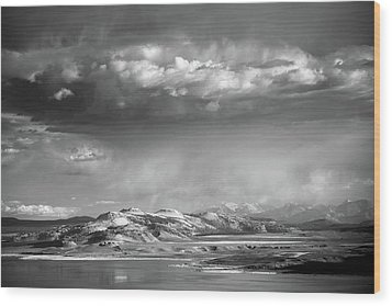 Wood Print featuring the photograph Rain Over Crater Mountain by Alexander Kunz
