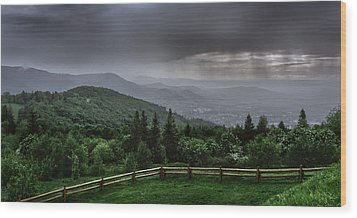 Wood Print featuring the photograph Rain Over The Silesian Beskids by Dmytro Korol