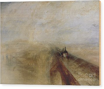 Rain Steam And Speed Wood Print by Joseph Mallord William Turner