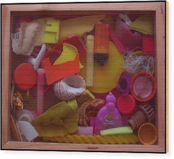 Rainbow Beach Box I Wood Print by Adam Kissel