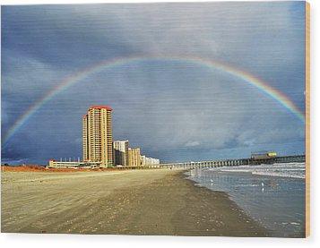 Rainbow Beach Wood Print