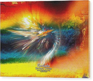 Wood Print featuring the photograph Rainbow Bliss #053329 by Barbara Tristan