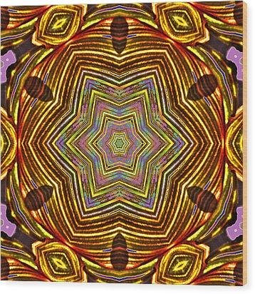 Rainbow Canna Wood Print by Brian Gryphon