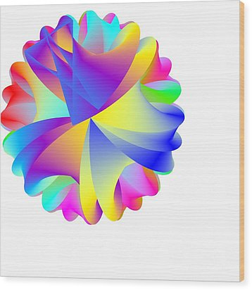 Rainbow Cluster Wood Print by Michael Skinner