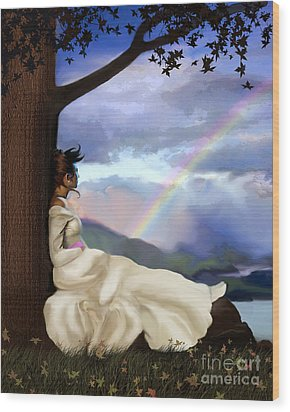 Rainbow Dreamer Wood Print by Robert Foster