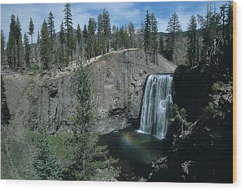 Rainbow Falls California Wood Print