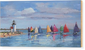 Rainbow Fleet Parade At Brant Point Wood Print