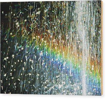 Rainbow Fountain Wood Print by Francesa Miller