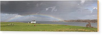 Rainbow, Island Of Iona, Scotland Wood Print by John Short