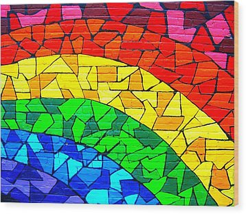 Rainbow ... Wood Print by Juergen Weiss