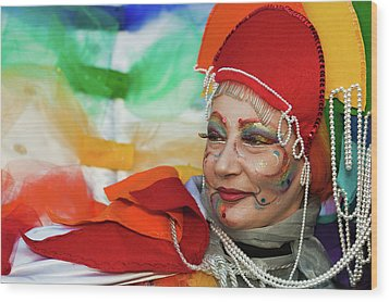 Rainbow Lady Wood Print